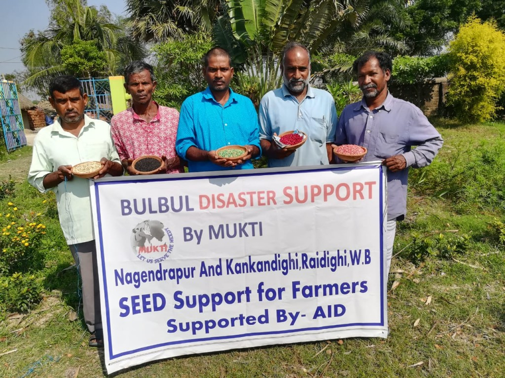 Vegetable Seed Support At Nagendrapur Gram Panchayet After Cyclone Bulbul.
