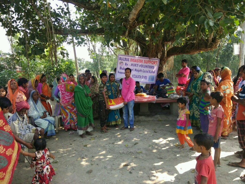 Relief Work In Bhubaneswari In Collaboration With Kolkata Gives Foundation