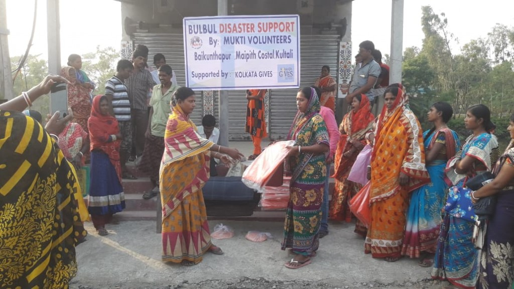 Relief Work At Baikunthapur In Collaboration With Kolkata Gives Foundation