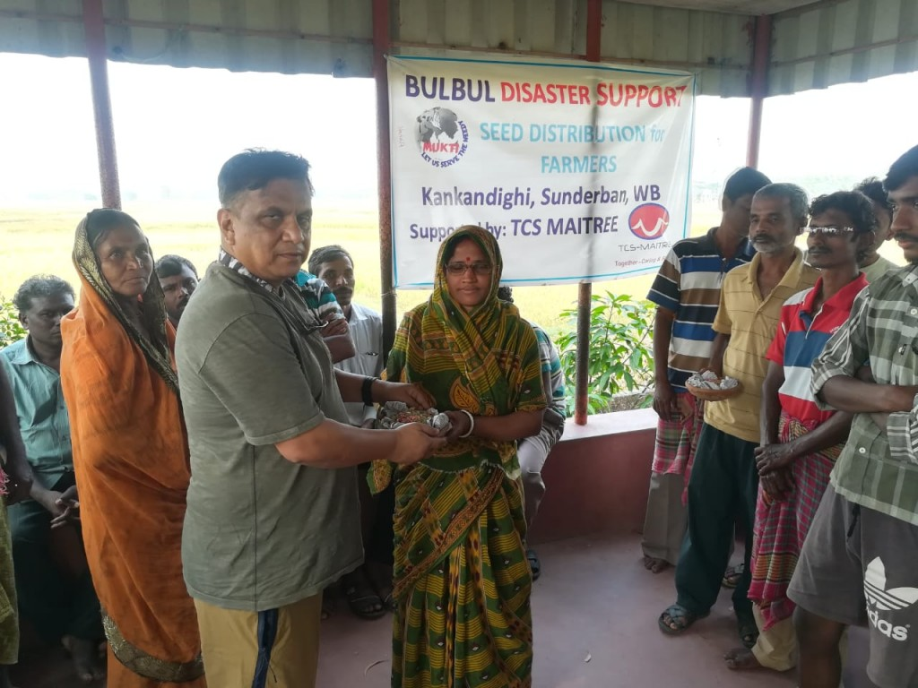 Seed Distribution Support At Kankandighi For Cyclone-affected Farmers