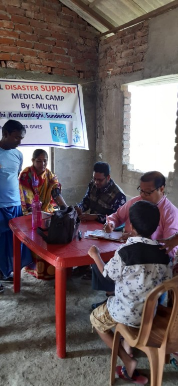 Medical Camp At Kankandighi For Cyclone-affected Families Of Sunderban