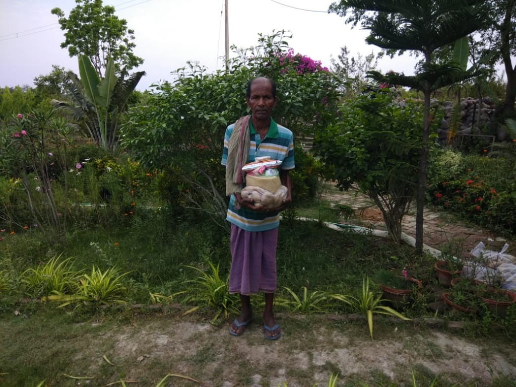 Support With Food Items To The Covid19 Impacted Family Purba...
