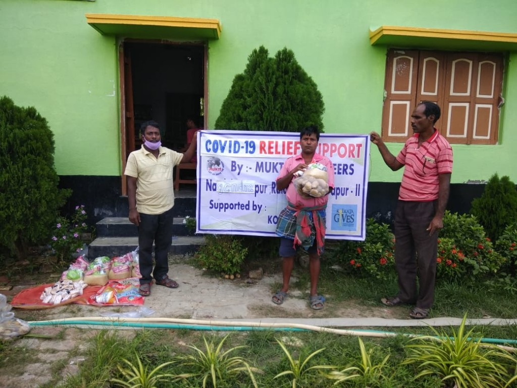 Support With Food Items To The Covid19 Impacted Family Purbasridharpur