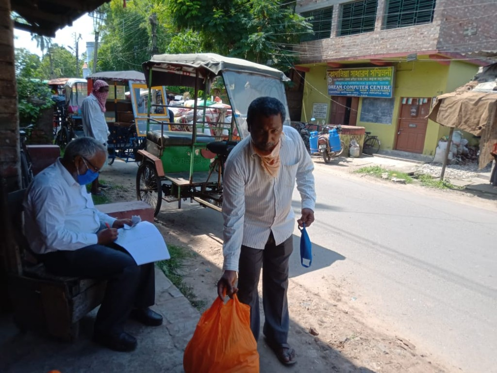Relief Provided By Mukti At Subhasgram