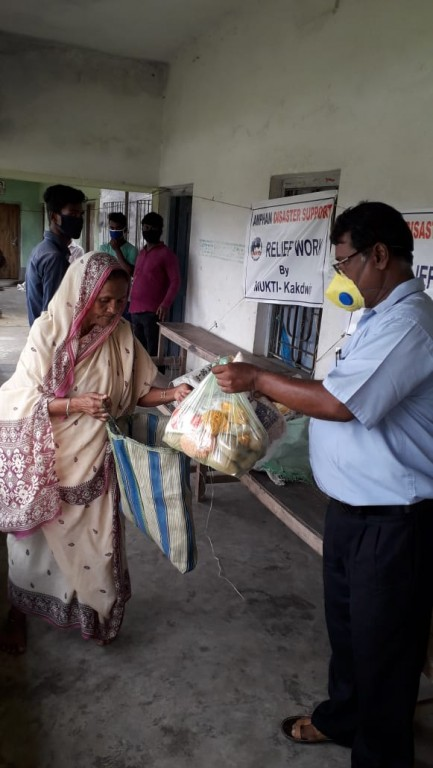 Relief Work At Kakdwip Among The Victims Of Cyclone Amphan