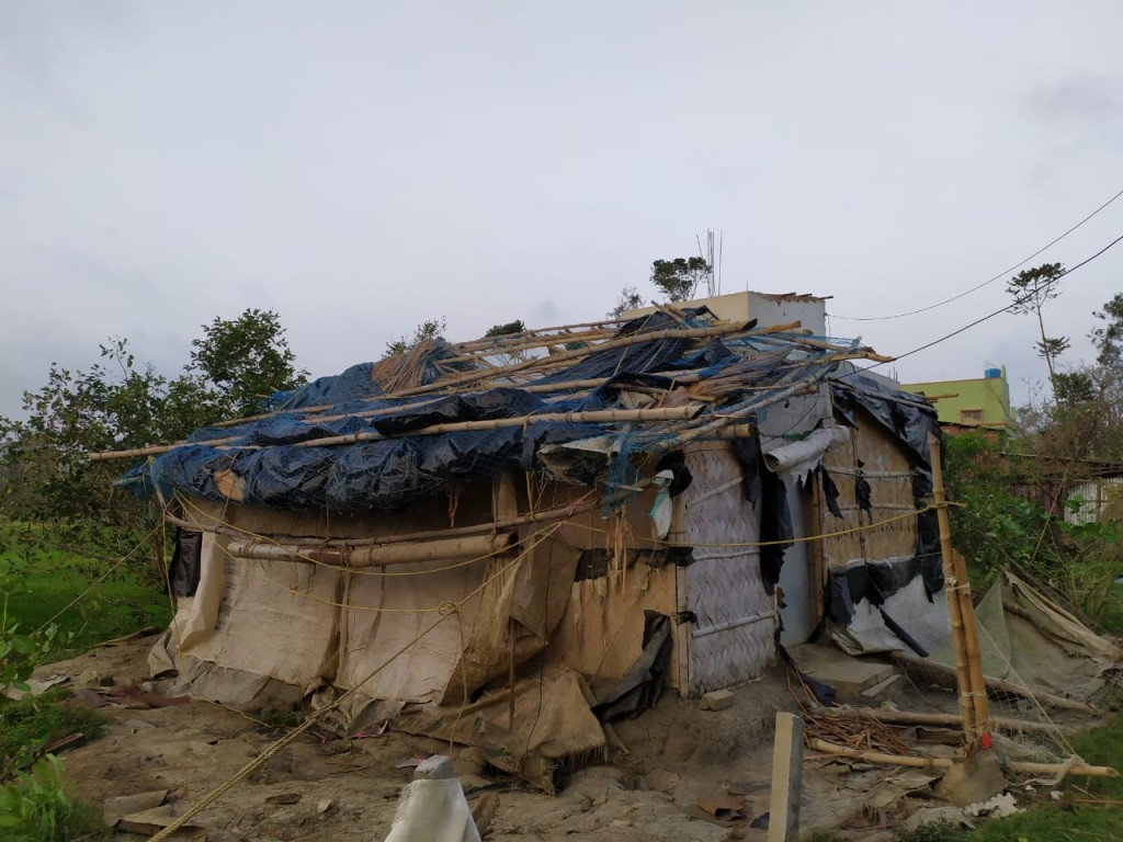 Destructive Power Of Amphan At Gobindopur Village, Kakdwip