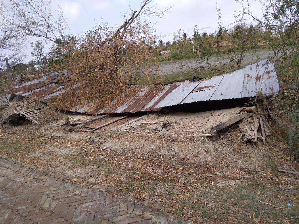 Impact Of Cyclone Amphan At Sumatinagar Village Under Sagar Gram Panchayt
