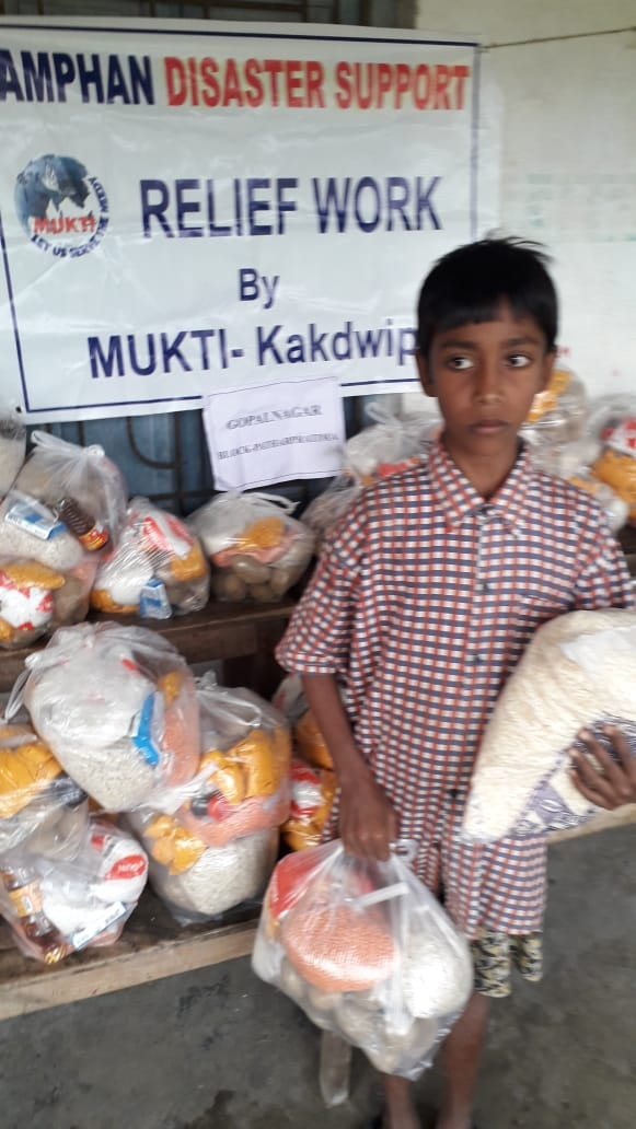 Relief Work Conducted By Mukti At Uttar Gopalnagar