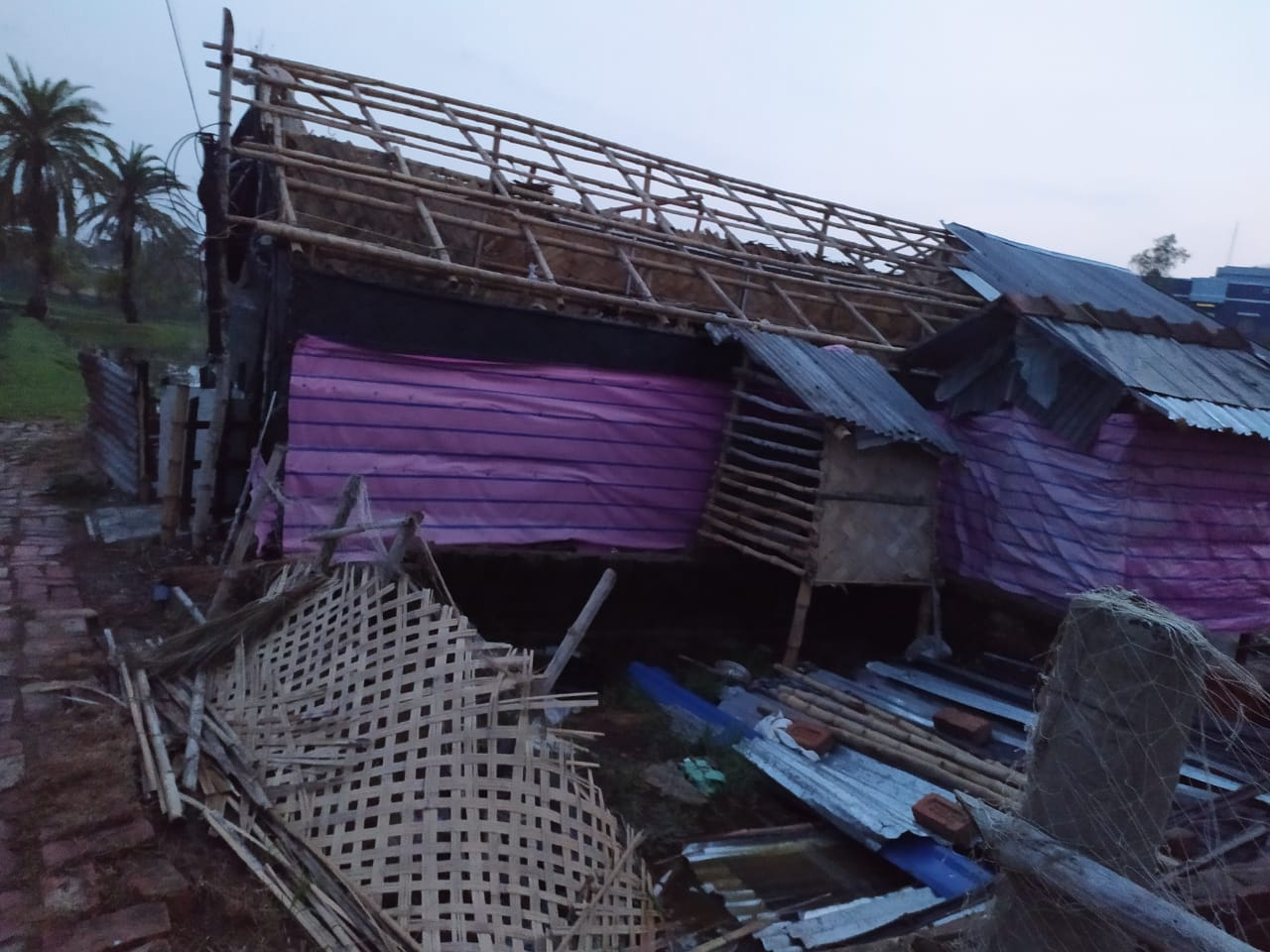 Amphan Destructed Houses At Haripur Under Kakdwip Block