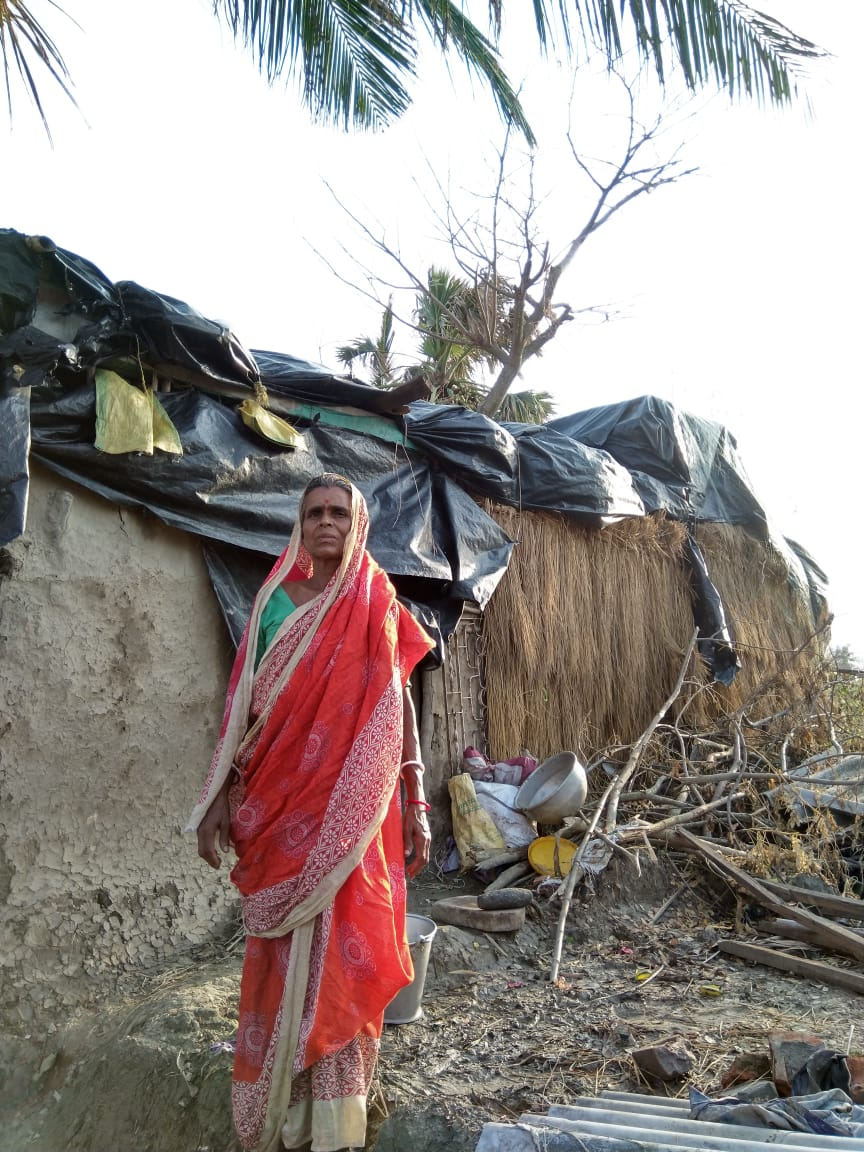 Amphan Damaged Thousands Of Houses At  Dakshin Shibgonj Village Under Patharprotima Gram Panchayat