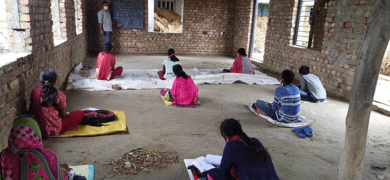 Mukti Support School Students Begins Their Session With Enough Precautions