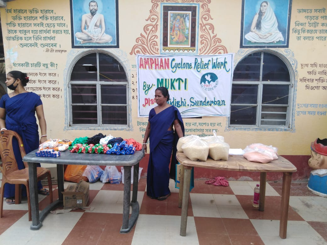 Relief Distribution By Mukti At Raidighi 2 Branch
