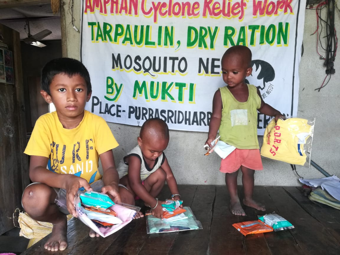 Care Kit Distribution By Mukti To The Children Of Purbasridh...