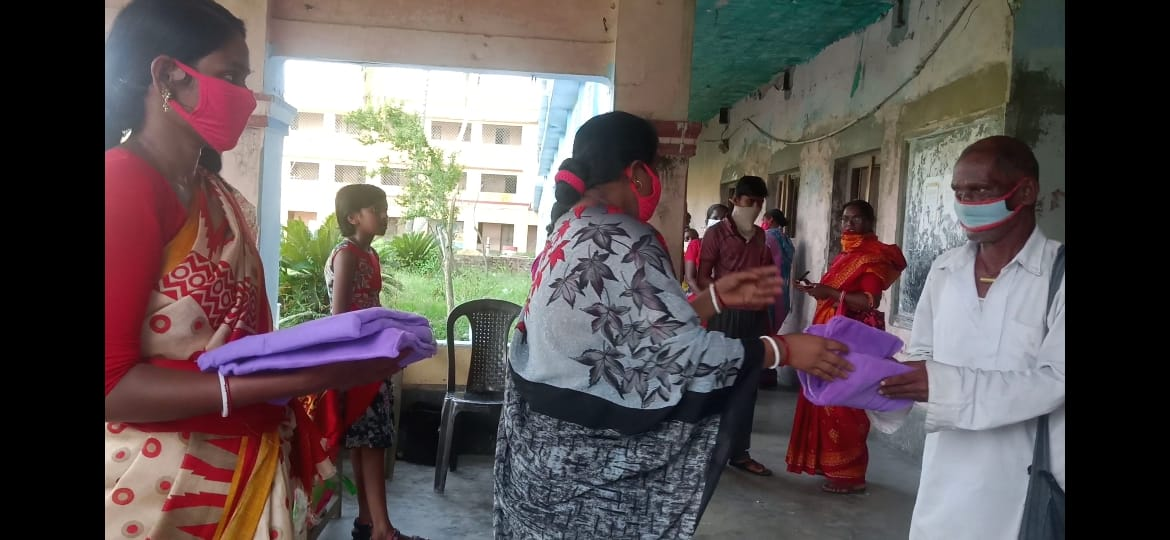 Mukti Distributed Relief At Narayanpur High School Under Nam...