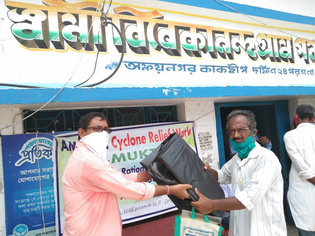 Distribution Of Relief Items By Mukti At Swami Vivekananda G...