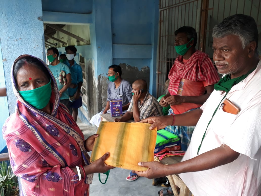 Consulate General Of The Federal Republic Of Germany Donates To Mukti For Dry Ration Support At Hemebogopalpur Gp Under Patharpratima Block