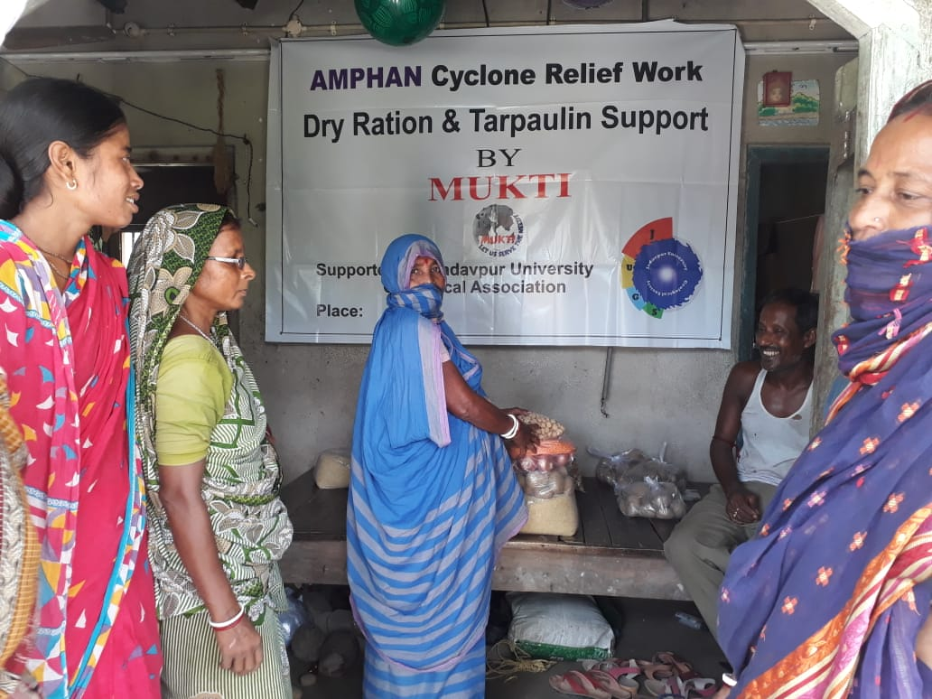 Mukti Conducted A Relief Distribution Program At Halder Para...