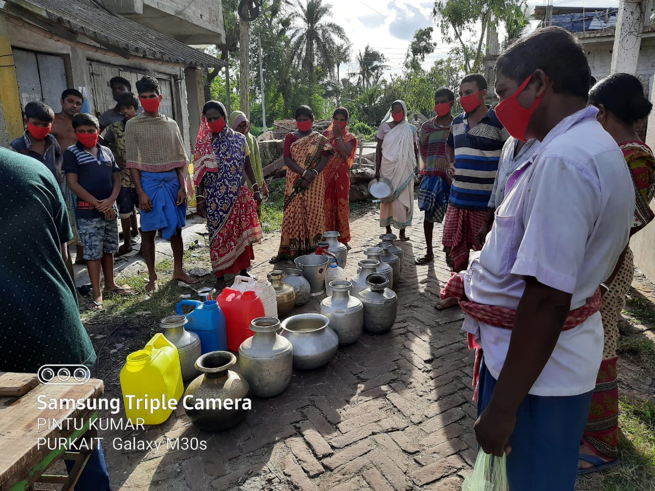 Potable Water Distribution By Mukti At Purba Jata Hatuyar Gheri