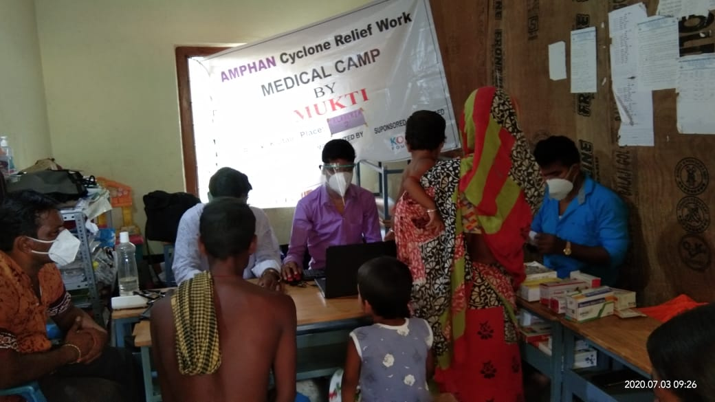 Medical Camp Conducted By Mukti At No 36 Mondaler Hat