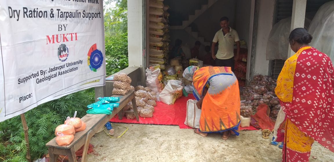 Mukti Distributed Relief Materials To The Mcdf Women At Here...