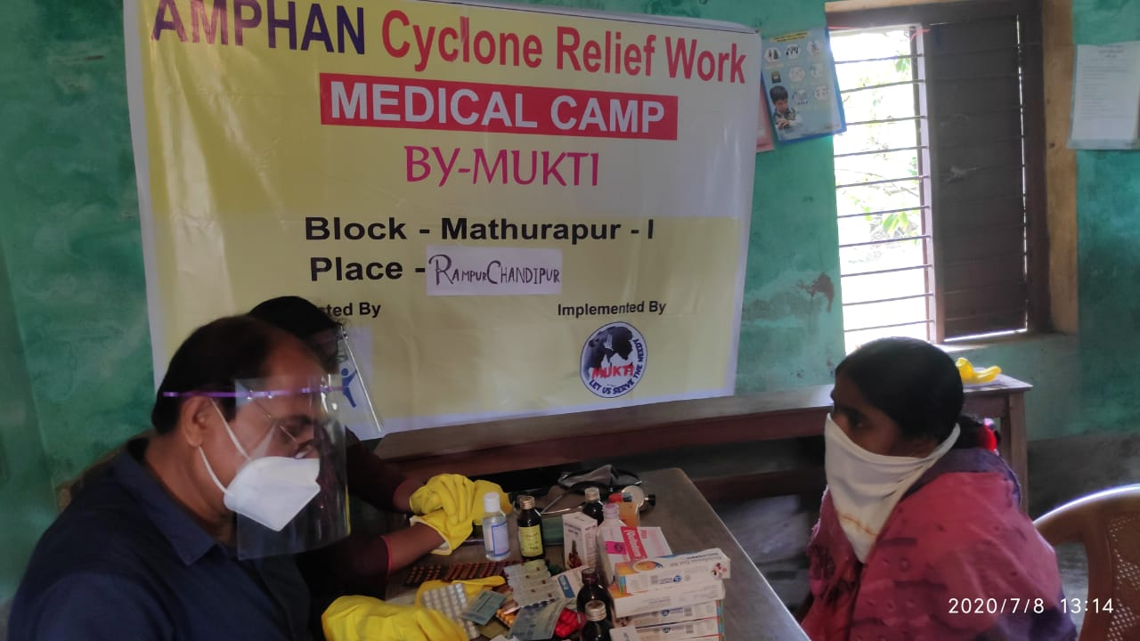 Medical Camp Conducted By Mukti At Chandipur