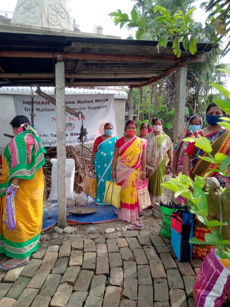 Mukti Conducted Relief Distributionprogram At Raidighi Branch I For The Shg Members