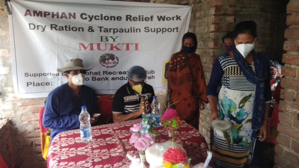 Mukti Conducted Relief Distribution Program At Sonatikari  F...