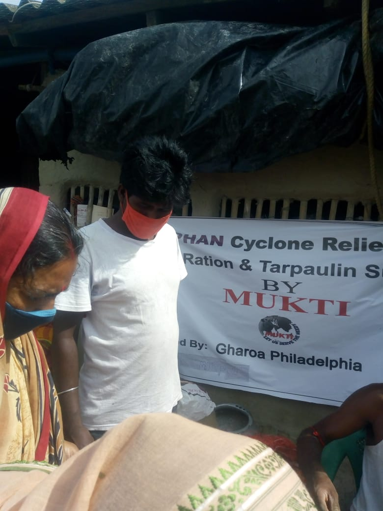 Gharoa Philadelphia Donates To Mukti For The Amphan Affected People At Raidighi Branch I