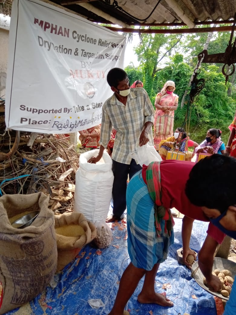 Take A Step Donates To Mukti For The Amphan Affected Shg Members At Raidighi