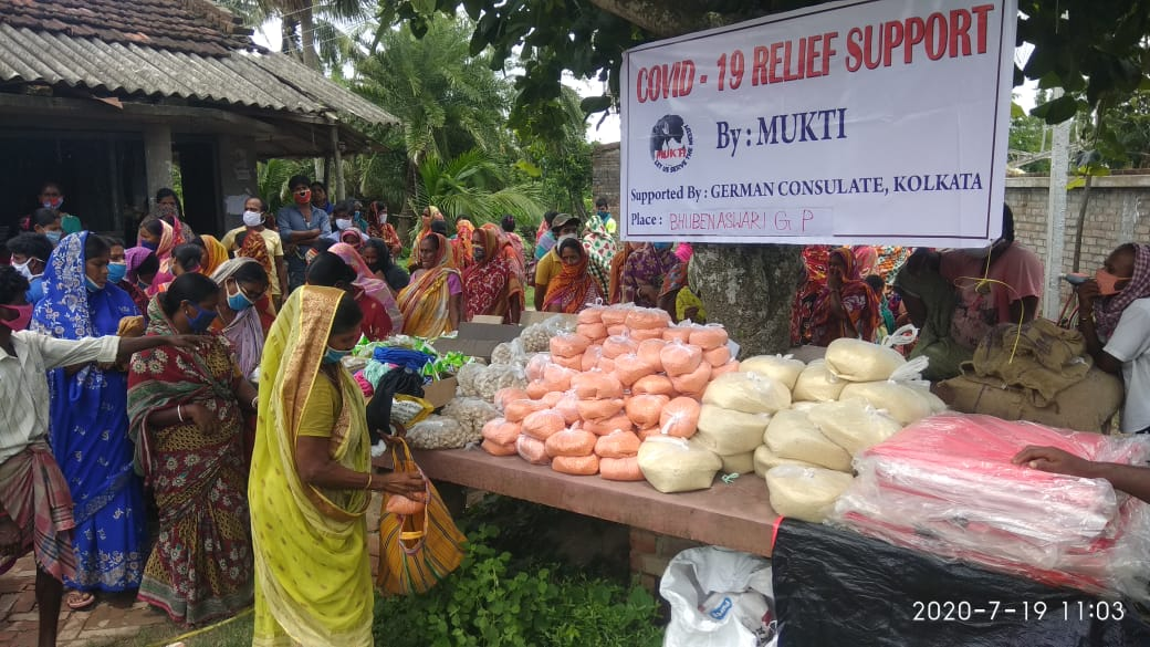 Consulate General Of The Federal Republic Of Germany Donates To Mukti For Dry Ration Distribuiton At Kultali Block