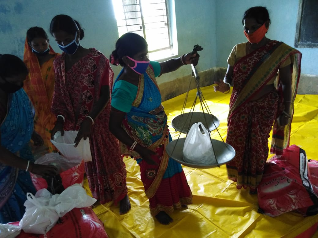 Relief Goods Packaging At Mukti Office