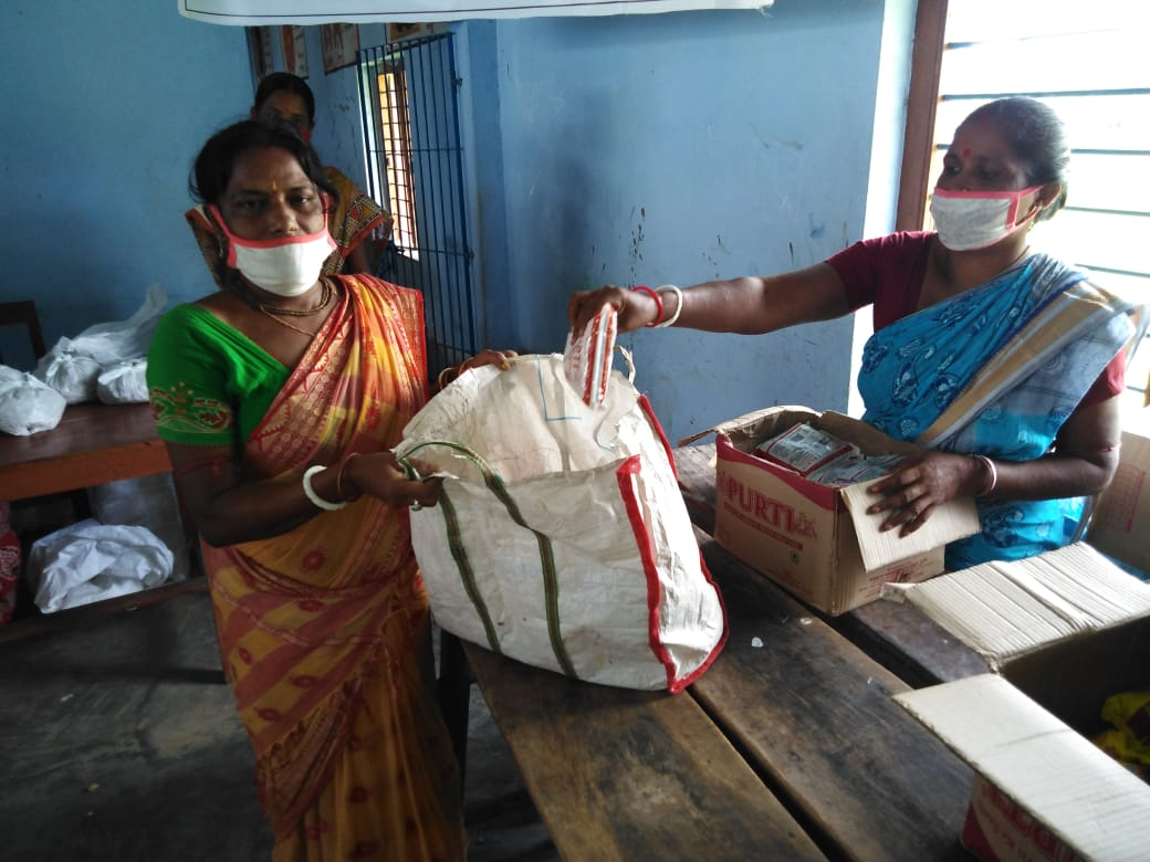 Mukti Distributed Relief Items To The Shg Members At Purbajata Hatua Ghei