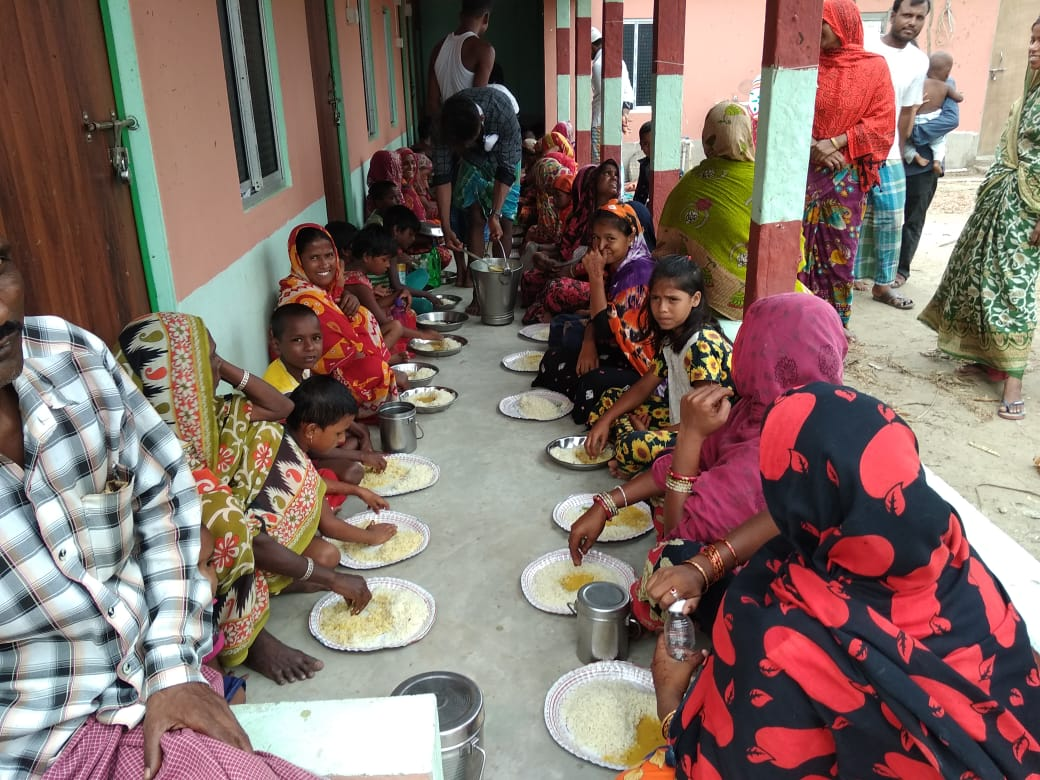 Individual Donors Donate To Mukti For Community Kitchen At Various Places Of Sunderban To Help The Amphan Affected People