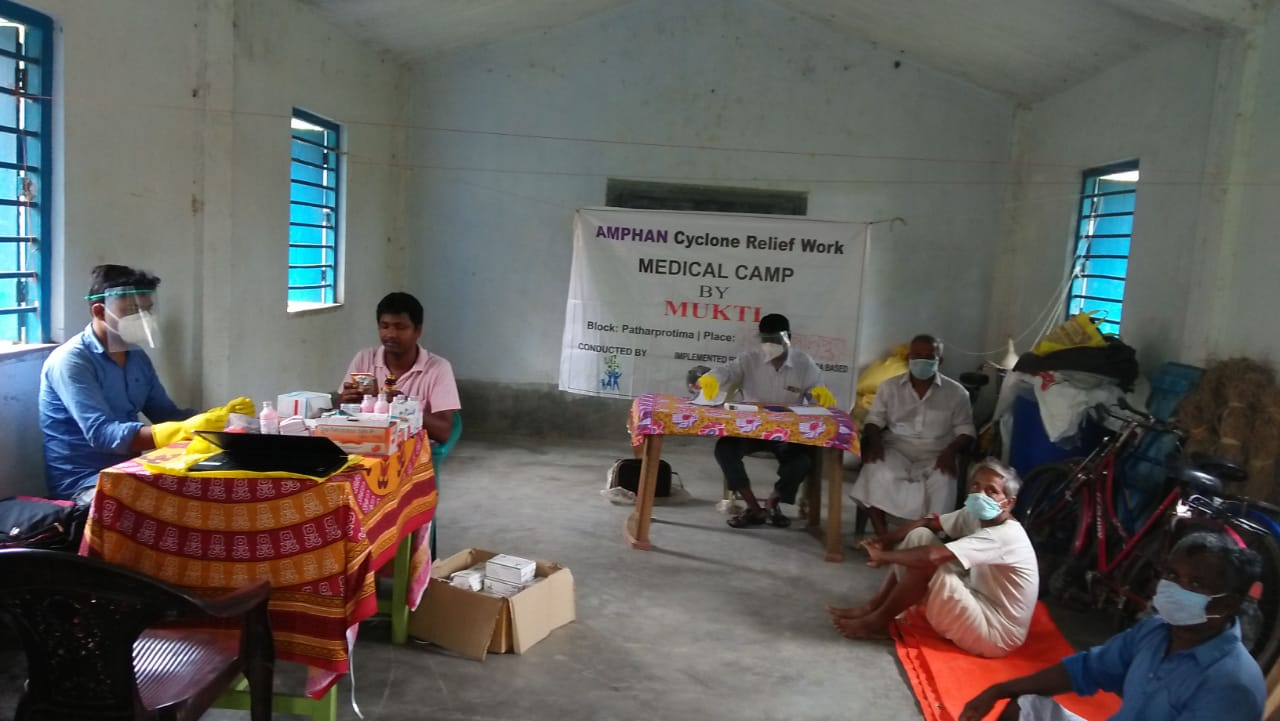Medical Camp Conducted By Mukti At Choto Bonoshyamnagar