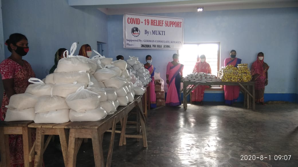Consulate General Of The Federal Republic Of Germany Donates To Mukti For Dry Ration Distribution At Kankandighi Gram Panchayat