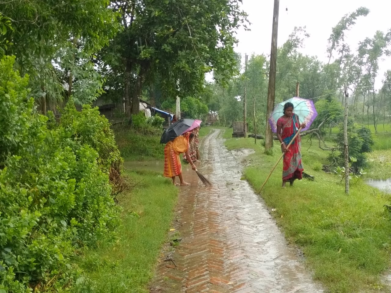 Village Cleaning And Hygiene At Mukti Model Village