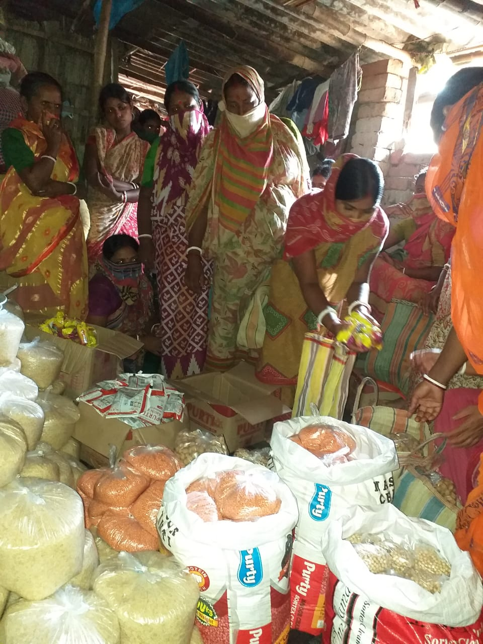 Mukti Distributed Dry Ration To The Shg Members At Jalaberia