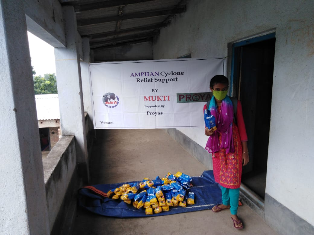 Mukti In Association With Proyas Distributed Sanitary Napkins To The Students Of Mukti Support School