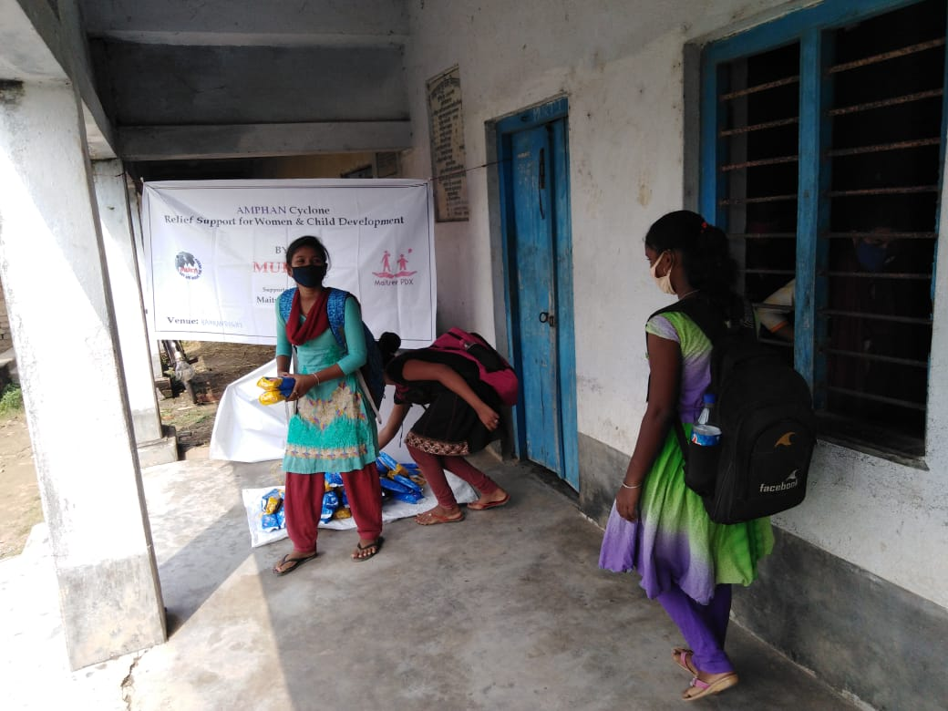 Mukti In Association With Maitree Pdx Distributed Sanitary Napkins To The Students Of Mukti Support School