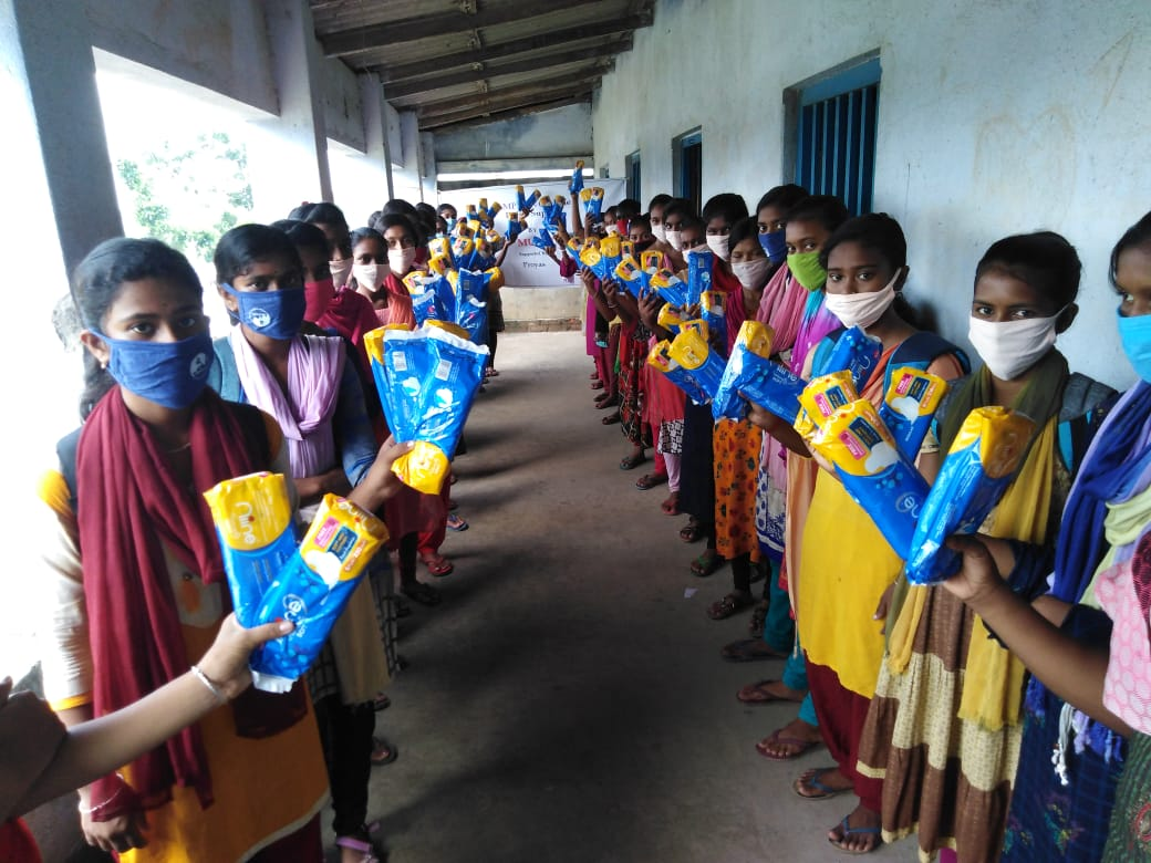 Mukti Distributed Sanitary Napkins To The Students Of Mukti ...