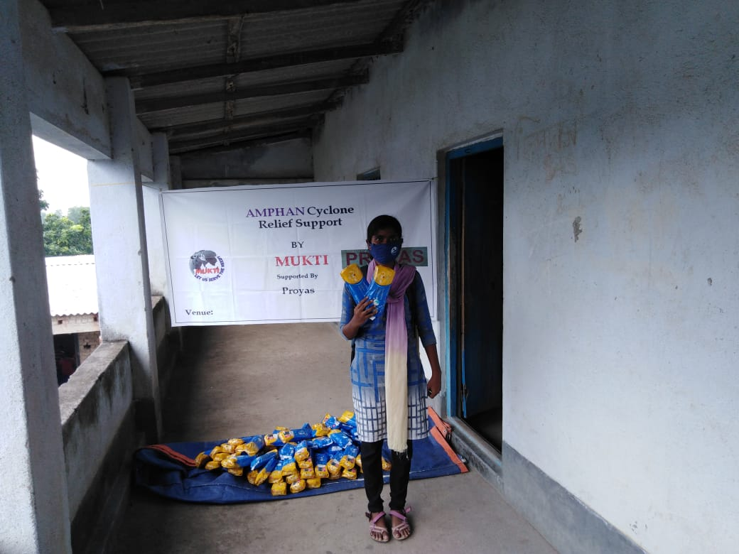 Mukti Distributed Sanitary Napkins To The Students Of Mukti Support School