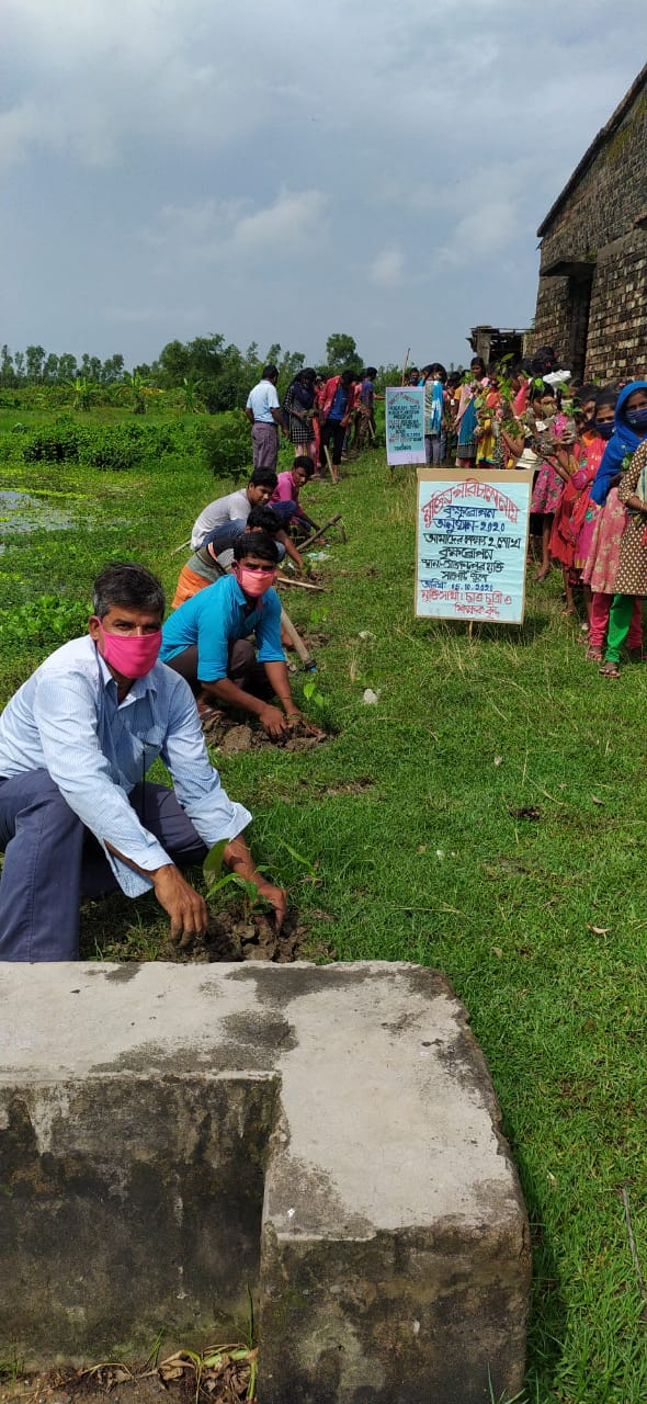 Students Of Jogendrapur Mukti Support School Participated In Tree Plantation Program 2020 By Mukti