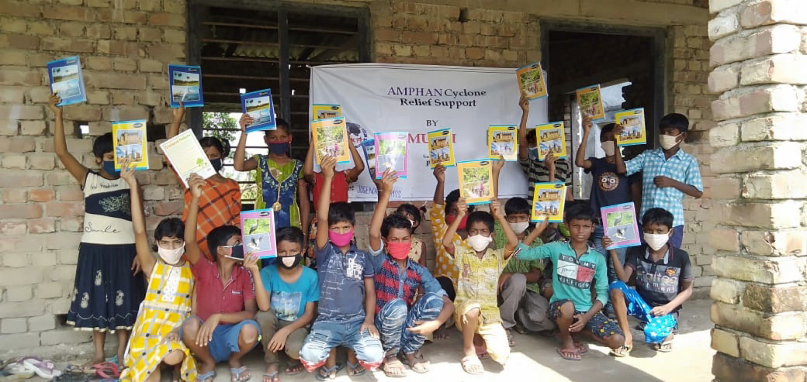 Mukti In Associaiton With Proyas Distributed Stationary Goods To The Students Of Mukti Community Study Support Center At Purba Sridharpur