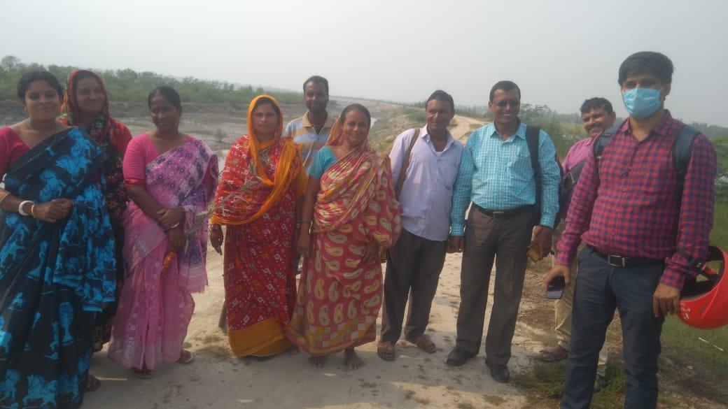 Mukti Staffs Visited The Mangrove Site At Basanti Block