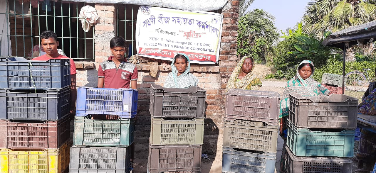 Crate Support Program By Mukti To The Landed Less Farmers Of...