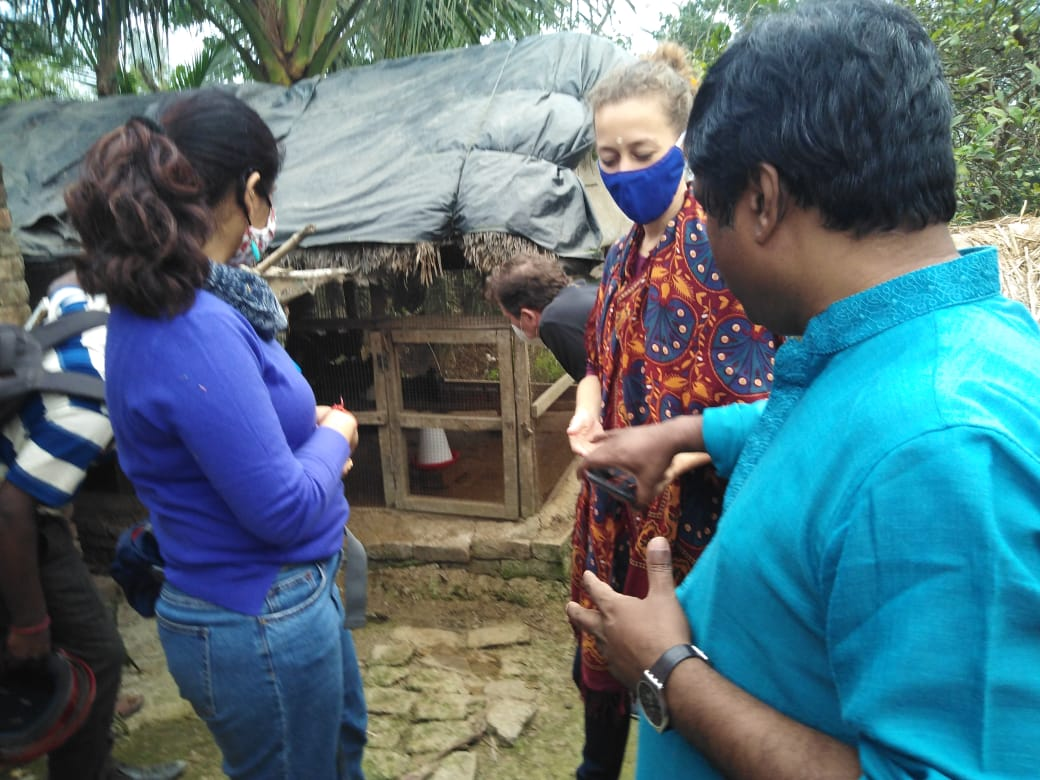 Representatives Of German Consulate Visit The Mukti Community Poultry Farm