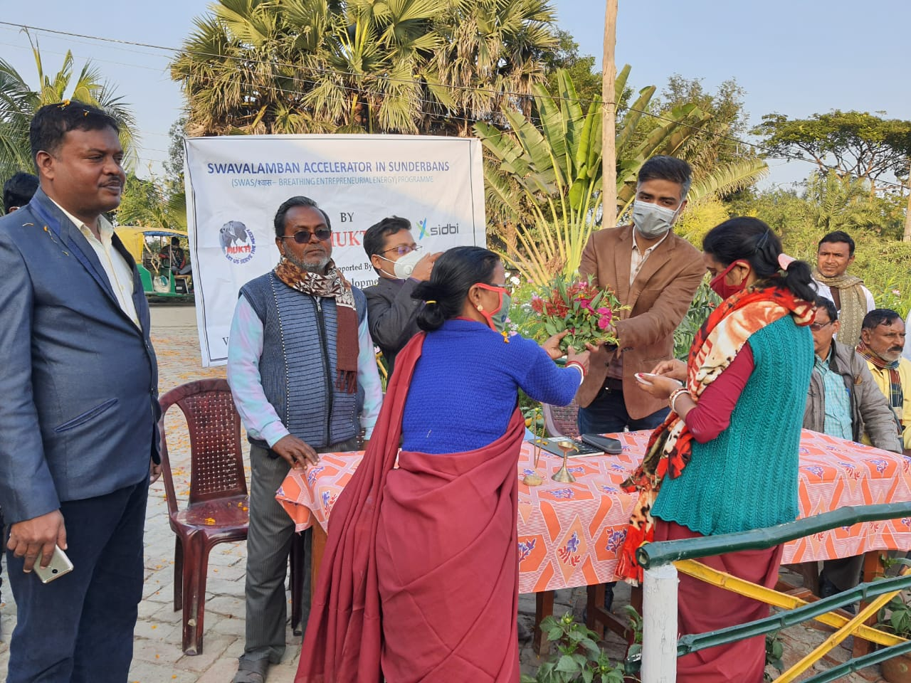 Officials Of Small Industries Development Bank Of India (sidbi) Visited Mukti Sam Office