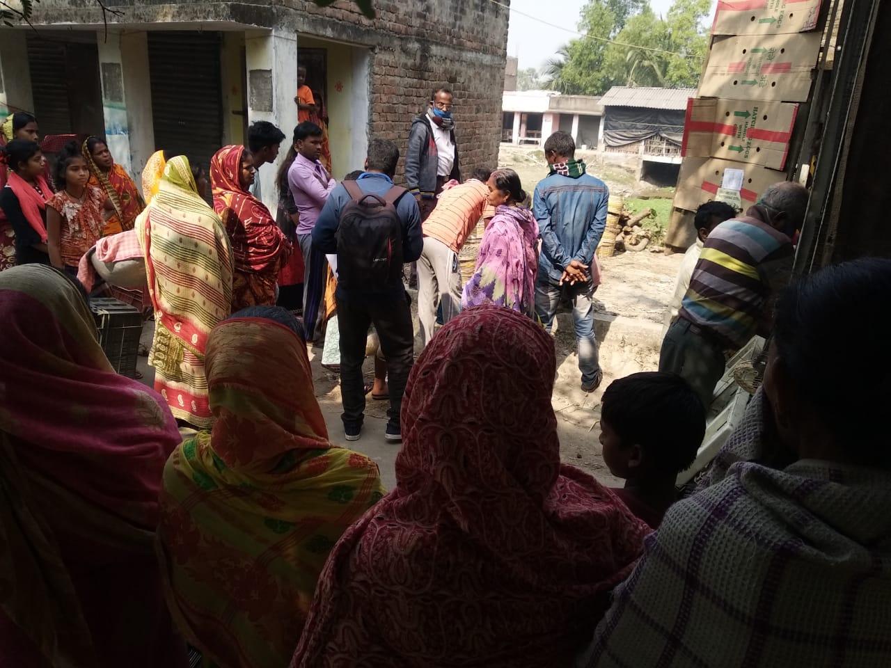 Mukti Distributed Chickens To The Mcdf Members  At Mukti Gram (purba Sridharpur)