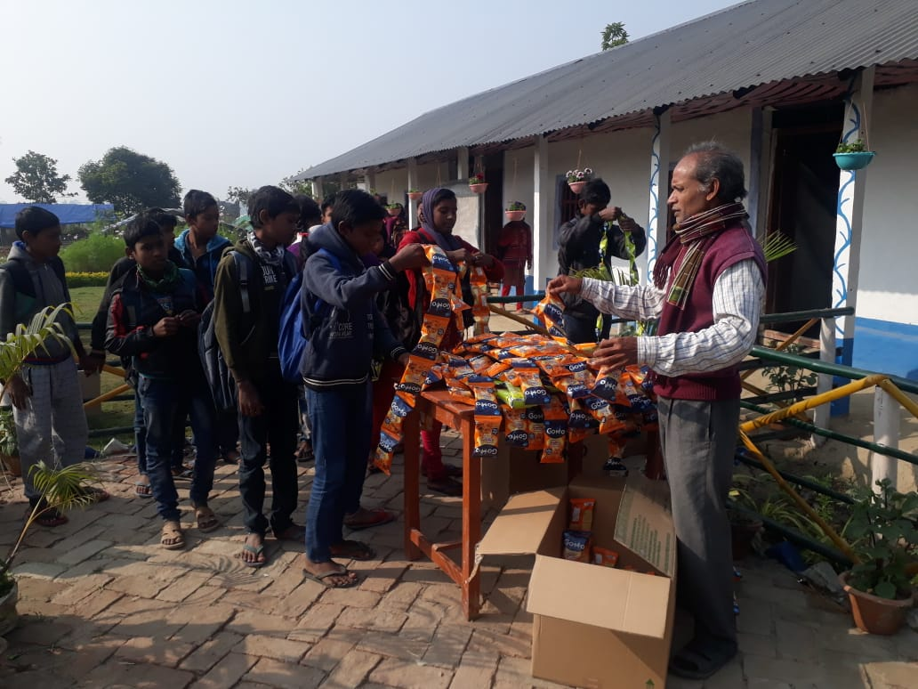 Mukti Distributed Gomo To The Students Of Kankandighi Mss