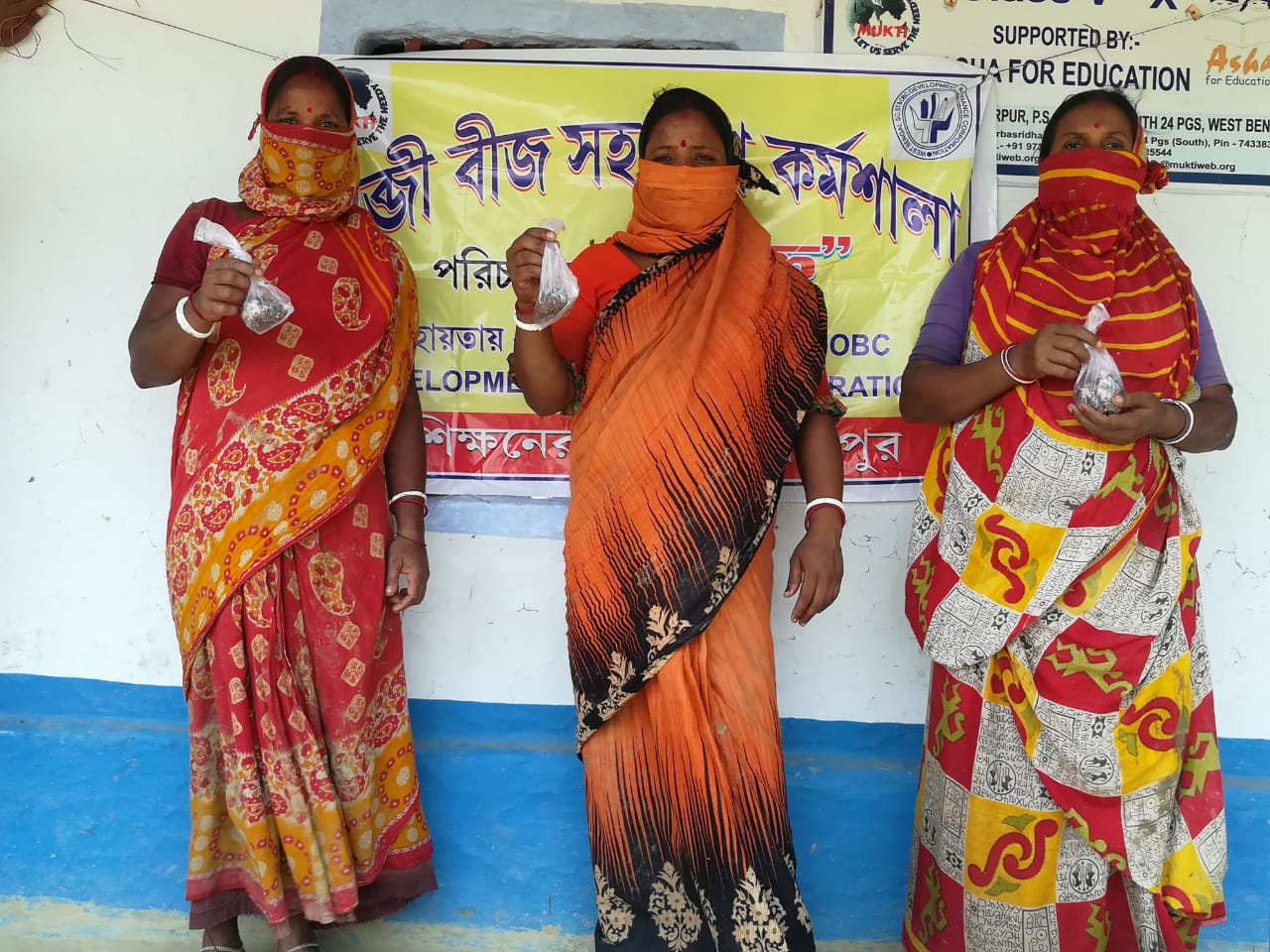 Mukti Supported The Landless Farmers With Seasonal Vegetable Seeds